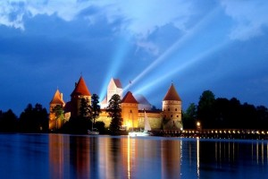 Trakai castle by night